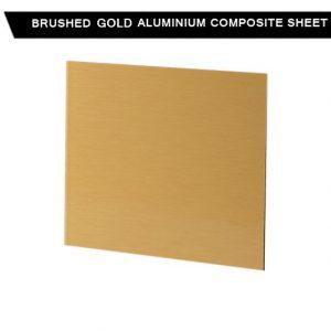 Brushed Gold Aluminium Composite Sheet