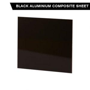 Black aluminium composite sheet