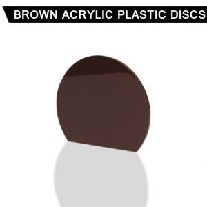 Brown Acrylic Disc