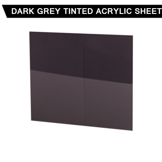 10mm Dark Grey Tint Acrylic Sheet Cut To Size Fast Uk Delivery