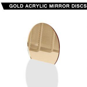Gold Acrylic Mirror Disc