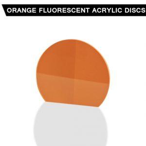 Orange Fluorescent Acrylic Disc