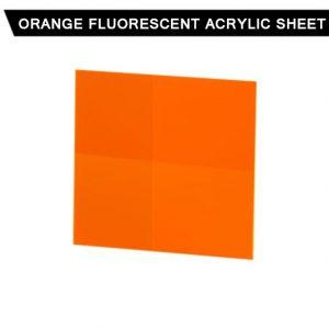 Orange Fluorescent Acrylic Sheet