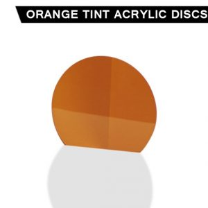 Orange Tint Acrylic Disc