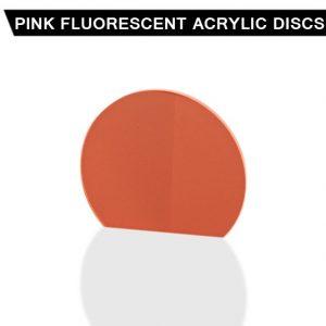 Pink Fluorescent Acrylic Disc