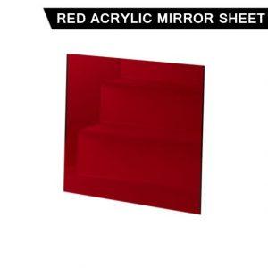 Red Acrylic Mirror Sheet