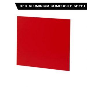 Red Aluminium Composite Sheet