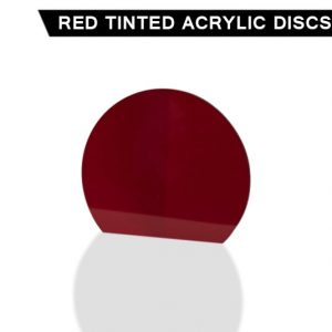 Red Tinted Acrylic Disc