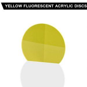 Yellow Fluorescent Acrylic Disc