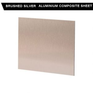Brushed Silver Aluminium Composite Sheet
