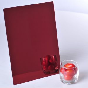 Dark Red Acrylic Mirror Sheet