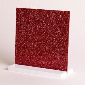 Red Glitter Acrylic Sheet